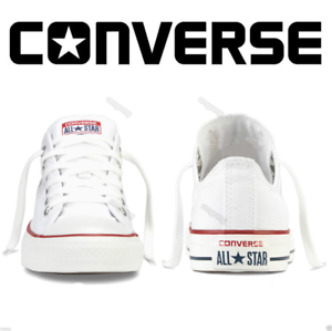 sneaker basse donna tela bianco converse