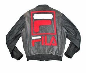 37e8207d57ec Fila Suede Leather Varsity Jacket Med Grey Sewn Bomber Bjorn Borg ...
