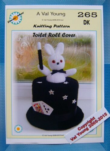 Knitting pattern for Toilet Roll Cover Number 265  DK Yarn By Val Young