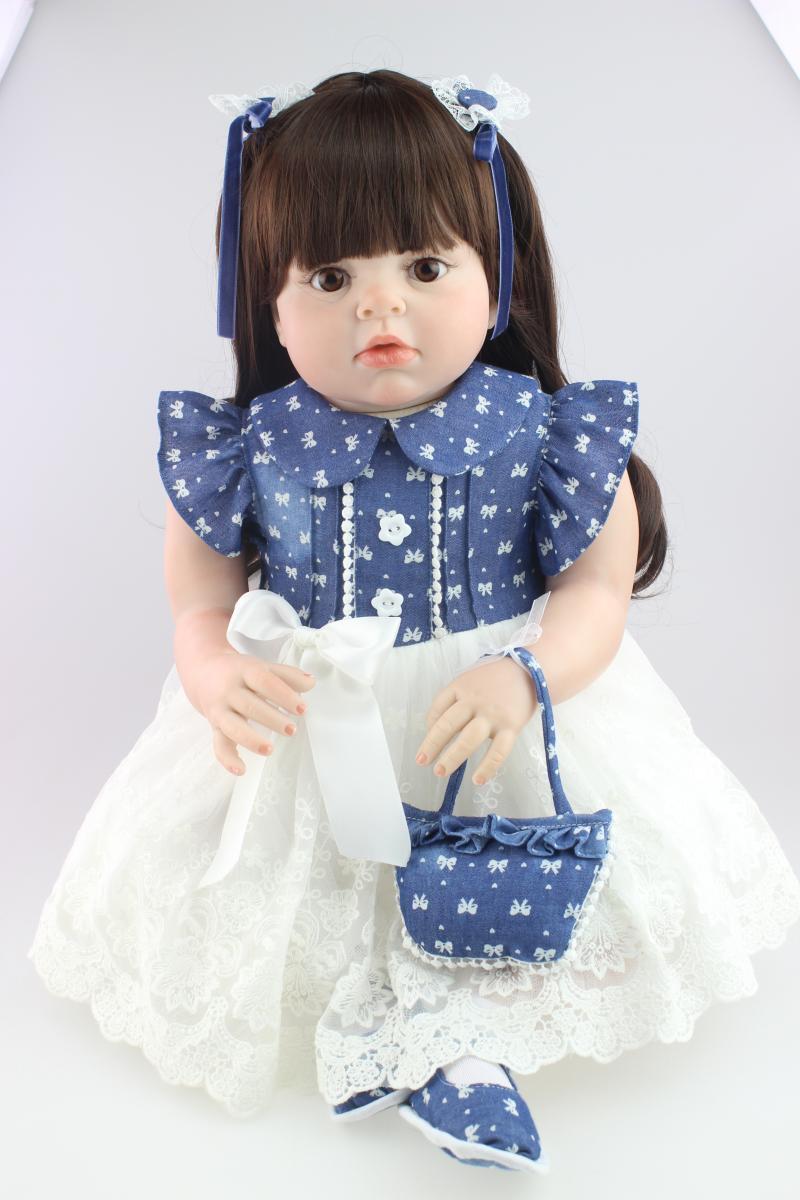 28  realistiche Bambino Rinato BABY GIRL doll vinile morbido silicone Neonato Giocattolo Regalo