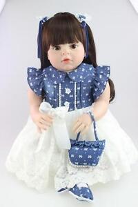 28/'/' Toddler Reborn Baby Girl Doll Likelife Soft Silicone Vinyl Newborn Toy Gift