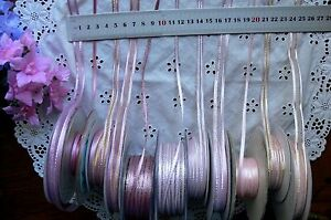 Satin-amp-Metallic-PINKS-Ribbons-3-6-7-amp-10mm-Wide-3-5-amp-10-Metre-Length-Choice-BWS