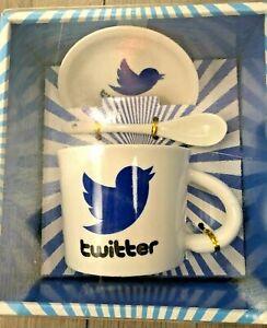 Twitter-Mug-Set-Cup-Saucer-Spoon-Gift-Box-Set-Blue-Bird-Tweet