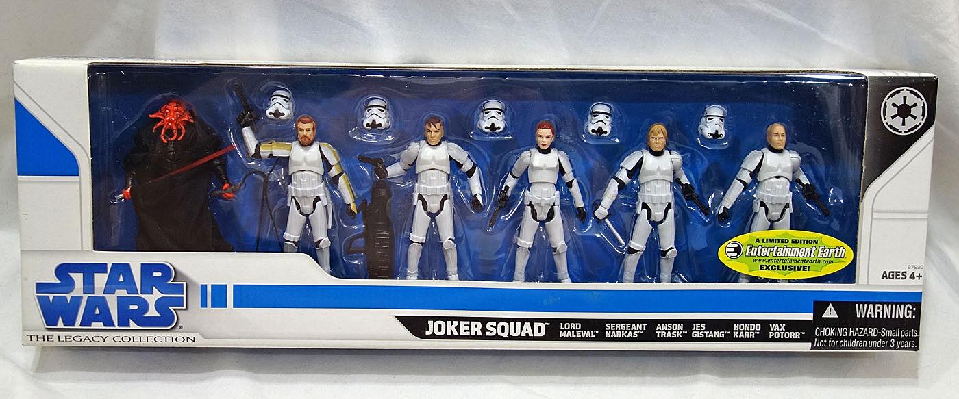 2008 Hasbro Star Wars Legacy Collection EE Ex. Joker Squad Figure 6 Pack MIB