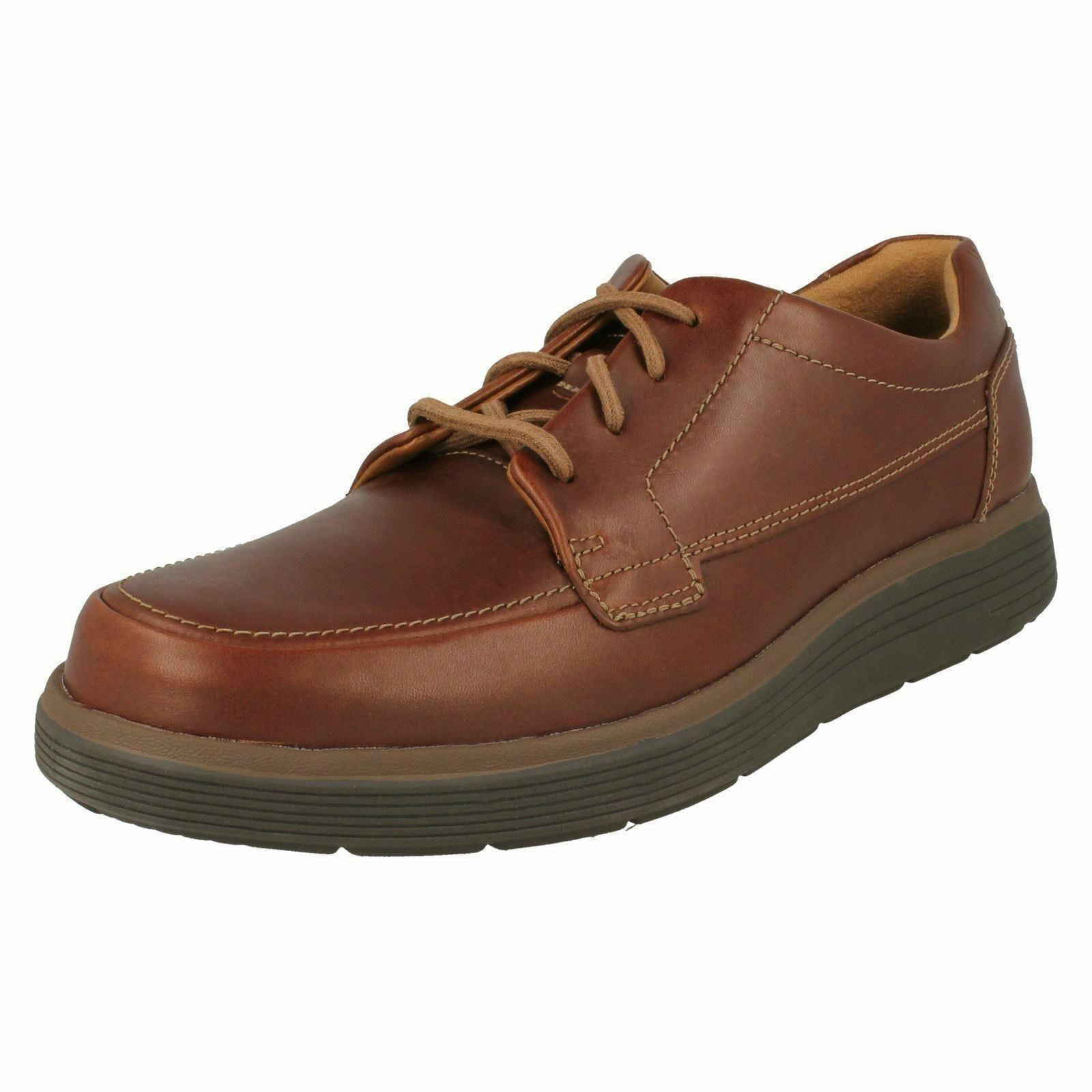 Mens clarks an abode ease brown laces