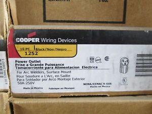 1252 COOPER WIRING SFC RECEPTACLE-NEM<wbr/>A6-50R (5 for $30)
