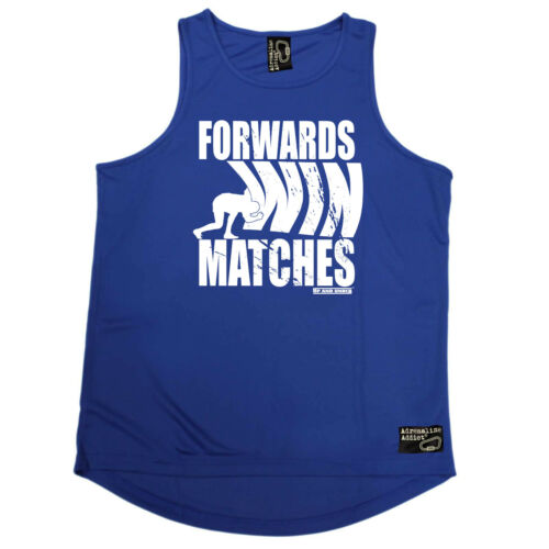 Rugby Vest Funny Mens Sports Performance Singlet Forwards Win Matches