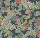 York Wallcoverings Dr6300 Dwell Studio Ming Dragon Wallpaper - Blues