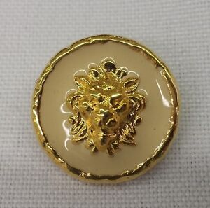 Gold-Metal-Buttons-with-Lion-Head-and-Colored-Inlay-3-4-034-Set-of-12