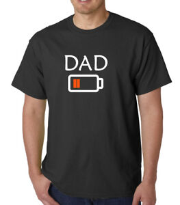 Running on Empty Joke T-Shirt Fuel Dad Fathers Day Birthday Funny Gift Tshirt