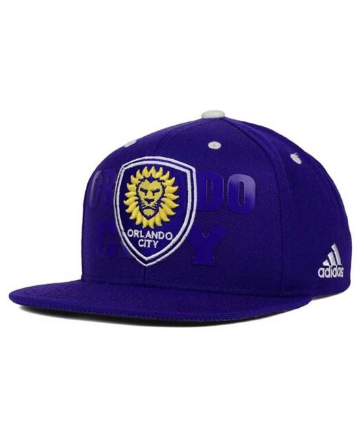 31747048461 NWT New Orlando City SC adidas MLS Academy Purple One Size Snapback Hat Cap