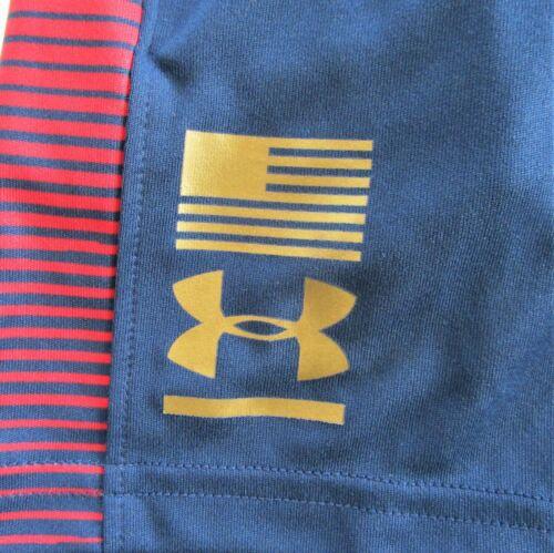 Under Armour Heat Gear Boys/' Academy Blue Shorts Size Y4 5 /& Y6 NWT