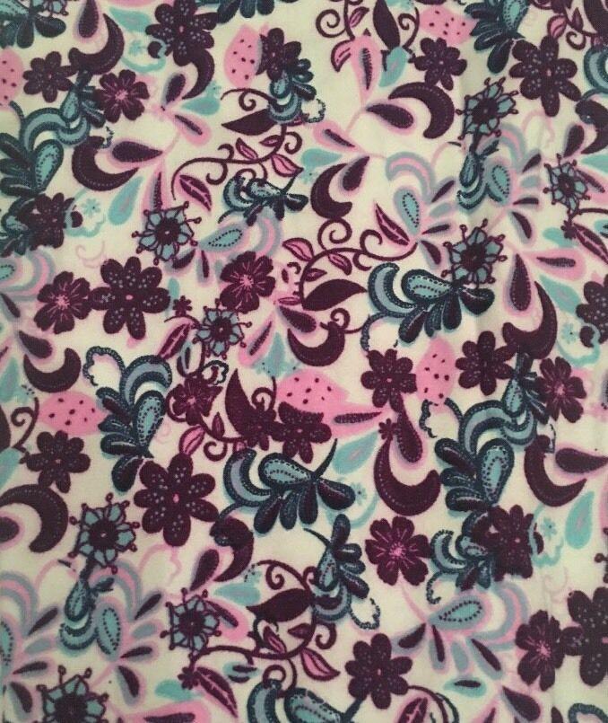 NWT Lularoe TC Leggings Paisley Floral Purple Pink bluee White Teal UNICORN