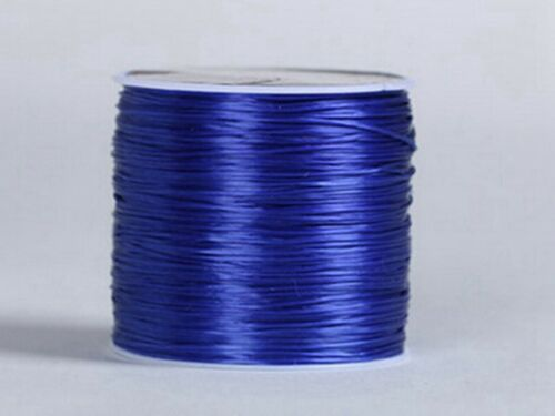 2 Roll X60 Yards Color Elastic Crystal String Beading Cord Stretchy Thread 0.5mm