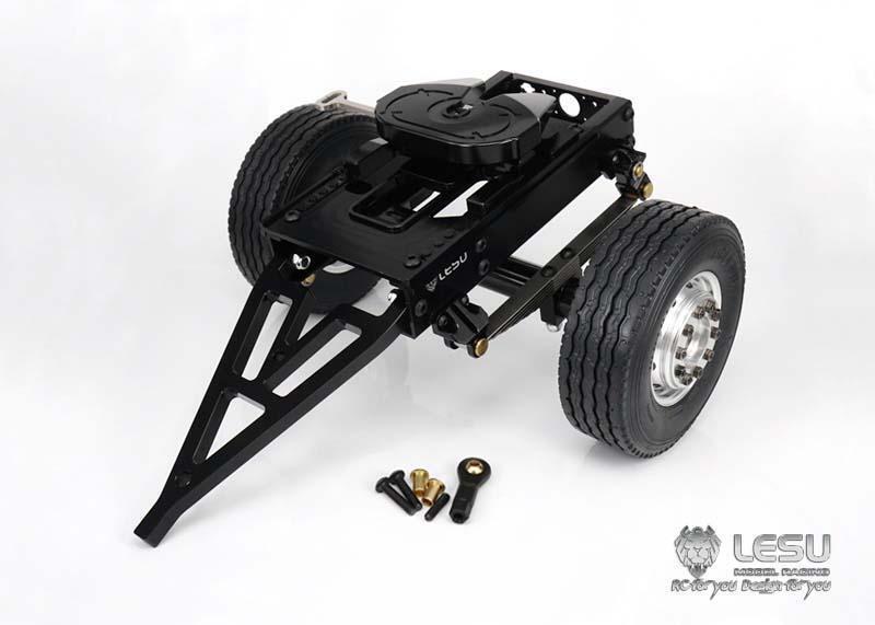 1/14 Radio Control Hágalo usted mismo TAMIYA Tractor Modelo Camión lesu coche remolque de metal de un solo eje B