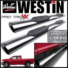 Westin Pro Traxx 6 Stainless Oval Nerf Step Bars Fit 2009 2019 Ram 1500 Quad Cab Fits Dodge Ram 1500