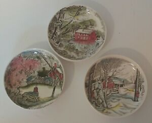 "Johnson Brothers  Saucer Plates 4"" Made In England set of 3"