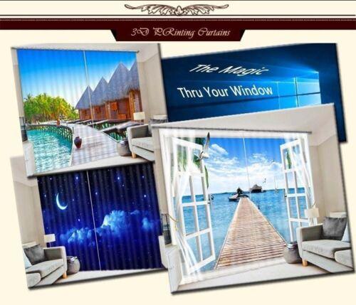 Leisure Garden Life 3D Curtain Blockout Photo Curtains Print Home Window Decor