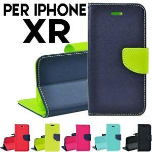 Magnetico chiusura a portafoglio custodia in pelle Cover per iPhone