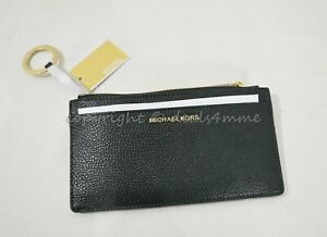 NWT-Michael-Kors-Money-Pieces-Large-Slim-Leather-Card-Case-in-Racing-Green