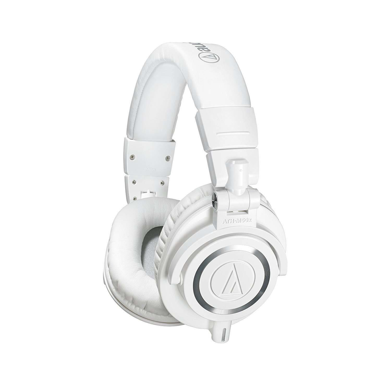 Audio-Technica ATH-M50xWH Professional Studio Monitor Headphones, White