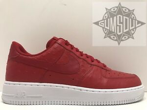 huge discount 98c28 71255 Image is loading NIKE-AIR-FORCE-1-07-LV8-RED-WHITE-
