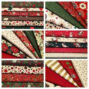 Christmas Traditions Fabric Pack remnants quilting patchwork bundles 100/% cotton