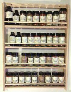 Solid-OAK-Wood-Spice-Rack-26-5-034-H-x-19-75-034-W-Wall-Mount-Wooden-Spice-Rack
