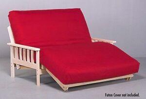 Savannah futon lounger package includes hardwood frame amp futon