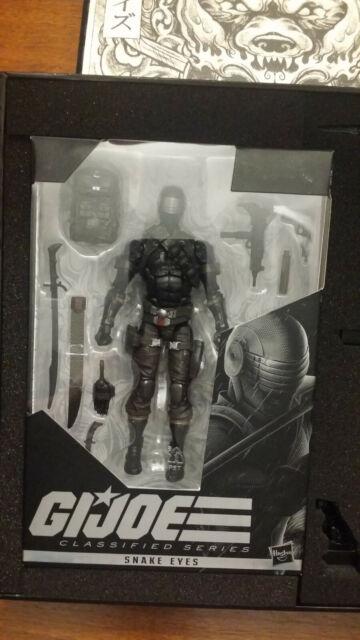 Hasbro GI Joe Classified Series Hasbro Pulse Exclusive Snake Eyes Deluxe Figure