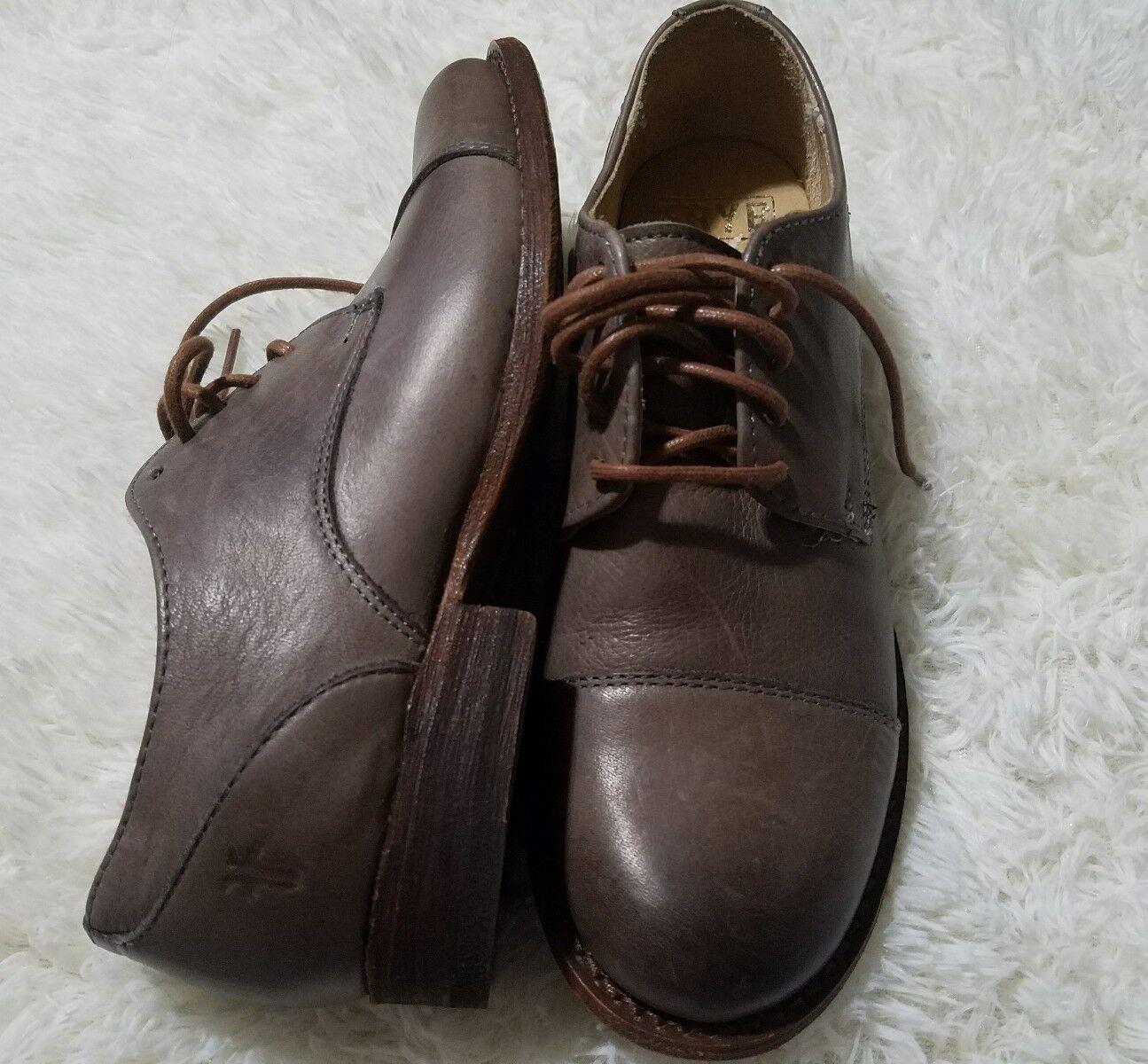 Frye Femmes Marron Cuir Derbies Chaussures Taille 5.5B NEUF