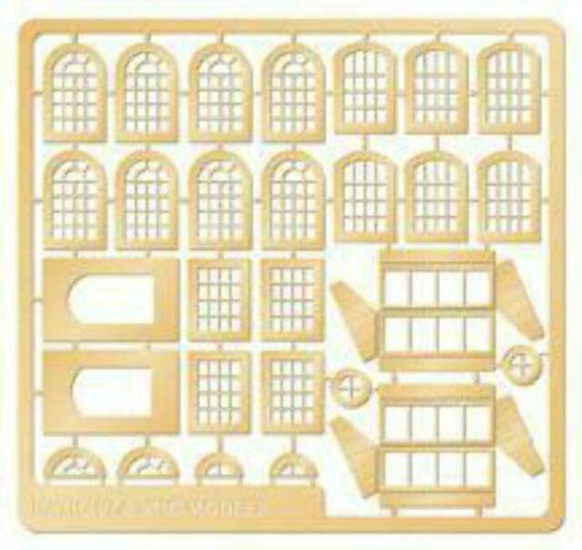 Ratio 309 /'N Builders Packs/' Industrial Windows Railway Model