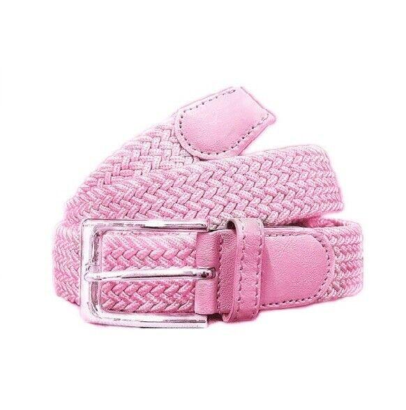Belt Flechtgürtel Fabric Belt Elastic Stretch Womens Belt Woven Pink