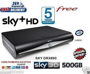 Image is loading SKY-HD-BOX-HD-BOX-500-GB-AMSTRAD-  sc 1 st  eBay & SKY HD BOX + HD BOX 500 GB AMSTRAD DRX890C 3D READY ON DEMAND 2016 ...