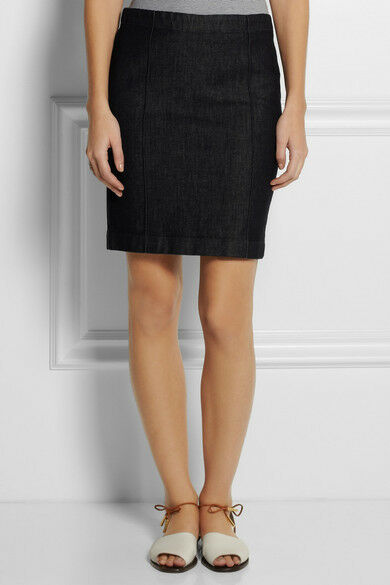 THE ROW Leone Stretch Cotton Denim Pencil Skirt - Dark Navy bluee XS