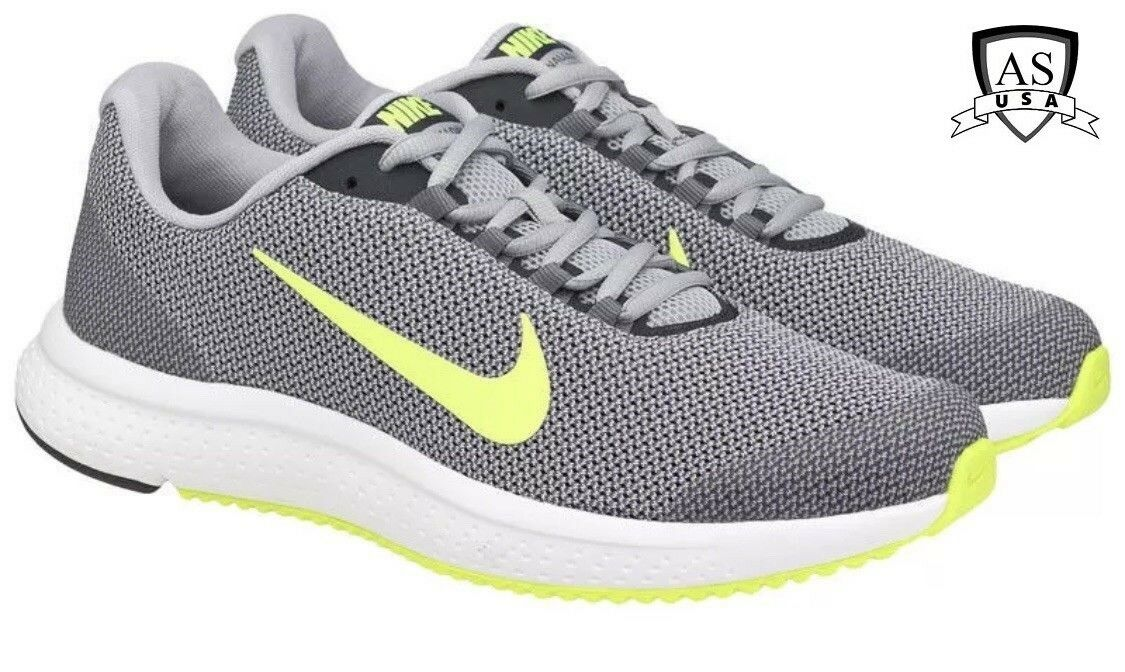 NIKE RUNALLDAY Men's Running shoes Wolf grey  volt 898464 012 Size 11.5