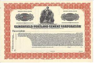 Clinchfield Portland Ciment Corporation non Émis Stock Certificat Eg5EgF23-09093011-389975089