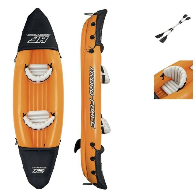 Bestway Hydro-Force Lite-Rapid X2 Kayak with 2 X Oars Inflatable    NEW|BOXED|UK