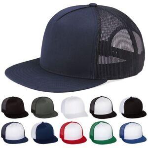 58610a000d7 Image is loading Yupoong-Retro-Five-Panel-Trucker-Hat-Snapback-Baseball-