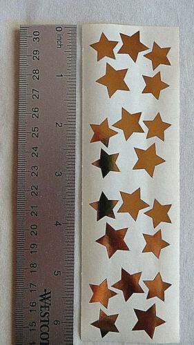 Mrs Grossman GOLD STARS 1 Strip Vintage 1989 Multi Size Gold Stars Stickers