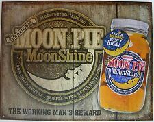Vintage Replica Tin Metal Sign MOON Pie moonshine drink sandwich snack cake 2062