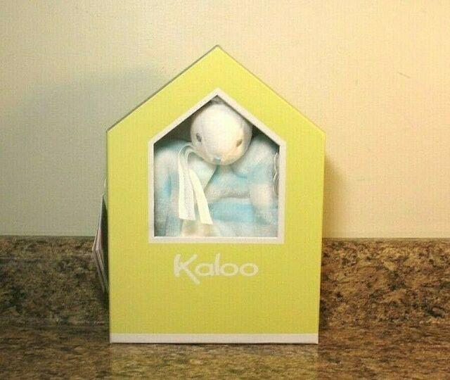 Kaloo Doudou Puppet Rabbit 10 Inch Aqua