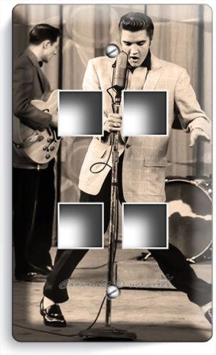 ELVIS PRESLEY SINGING LIVE CONCERT LIGHT SWITCH PLATE OUTLET ROOM ART HOME DECOR