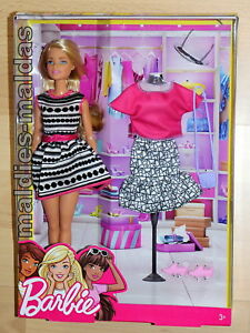 Barbie-Mode-Set-amp-Barbie-FFF59-Puppe-NEU-OVP-Fashion