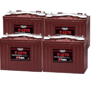 4x Trojan T1275 Batterie Décharge Lente 150Ah 12V
