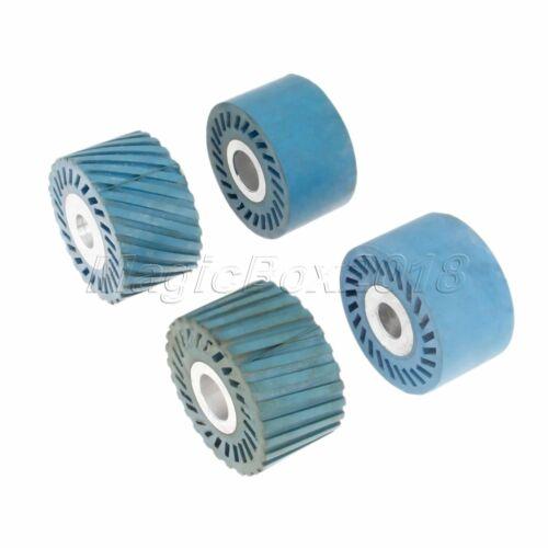 86 x 50mm Abrasive Belt Rubber Wheel With Aluminium Core For Polisher Sander