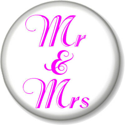 25mm LGBT Wedding Button Badge with Fridge Magnet Option Hen Party