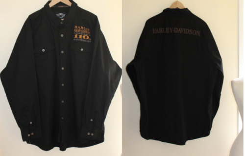 Mens Harley Davidson XXXL Garage 110th Logo Shirt