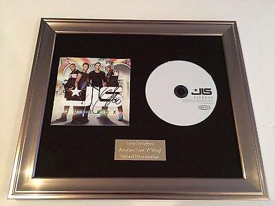 JLS CD PERSONALLY SIGNED//AUTOGRAPHED FRAMED PRESENTATION.ASTON MARVIN JB JLS