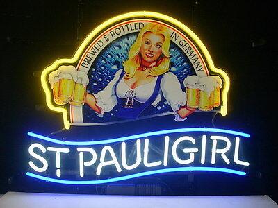 St. Pauli Girl Bar Beer Pub Store Garage Display New Neon Light Sign L45